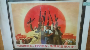 Propaganda Poster! Pretty sure this one says something about Stalin/Maoist thought living long time.